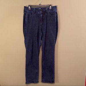 Lane Bryant high rise straight denim jeans 14